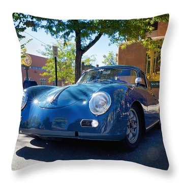 1956 356 A Sunroof Coupe Porsche Throw Pillow
