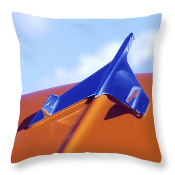1956 Chevrolet Belair Hood Ornament Throw Pillow by Jill Reger