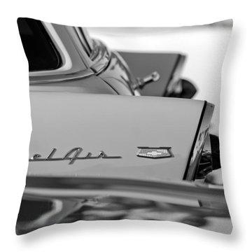 1956 Chevrolet Belair Nomad Rear End Emblem Throw Pillow by Jill Reger