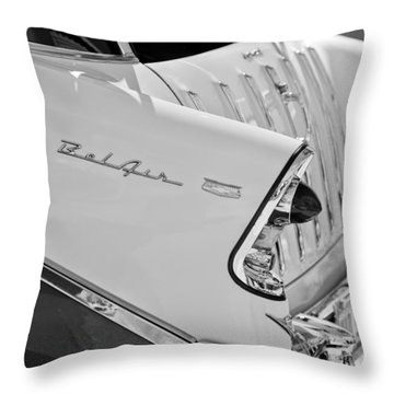 1956 Chevrolet Belair Nomad Rear End Taillights Throw Pillow