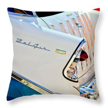 1956 Chevrolet Belair Nomad Taillights Throw Pillow