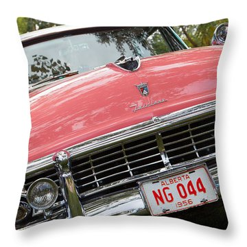 Throw Pillow featuring the photograph 1956 Classic Car by Mick Flynn
