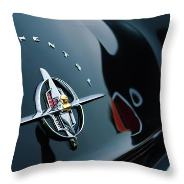 1956 Lincoln Continental Mark II Coupe Rear Emblem Throw Pillow