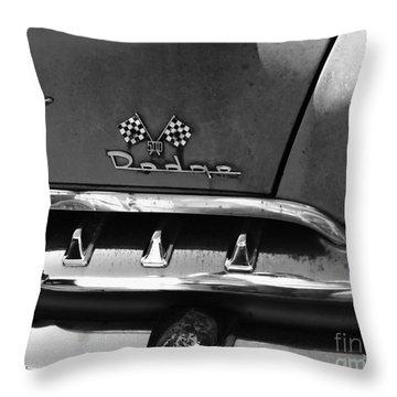 1956 Dodge 500 Series Photo 2 Throw Pillow by Anna Villarreal Garbis
