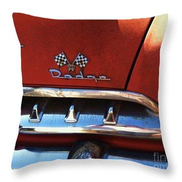 1956 Dodge 500 Series Photo 2b Throw Pillow by Anna Villarreal Garbis