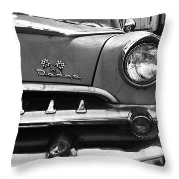 1956 Dodge 500 Series Photo 5 Throw Pillow by Anna Villarreal Garbis