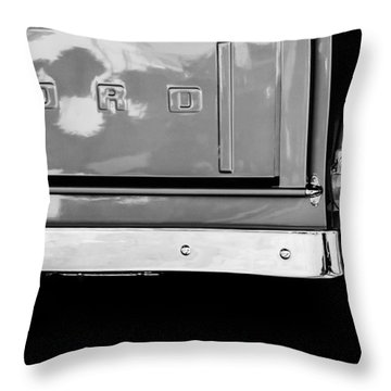 1956 Ford F-100 Truck Taillight Emblem Throw Pillow