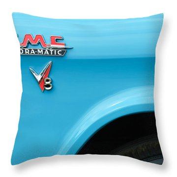 1956 Gmc 100 Deluxe Edition Pickup Truck Emblem Throw Pillow