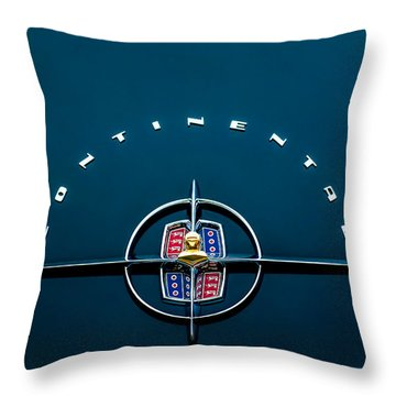 1956 Lincoln Continental Mark II Coupe Emblem Throw Pillow