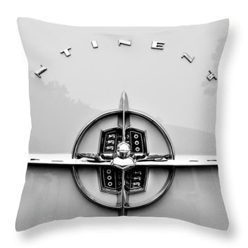 1956 Lincoln Continental Rear Emblem Throw Pillow