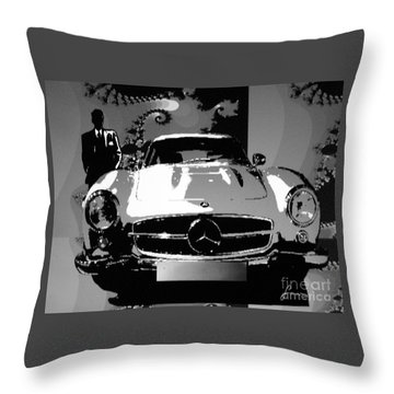1956 Mercedes Benz 300 Sl Gullwing Throw Pillow