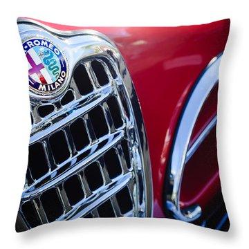 1957 Alfa-romeo 1900c Super Sprint Grille Emblem Throw Pillow