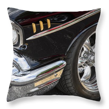 1957 Chevrolet Bel Air Beauty Throw Pillow