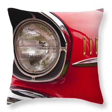 1957 Chevrolet Bel Air Headlight Throw Pillow
