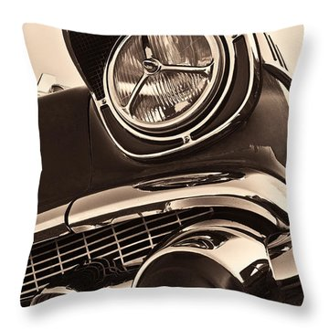 1957 Chevy Details Throw Pillow