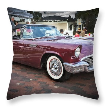 1957 Ford Thunderbird Convertible  Throw Pillow