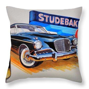1957 Studebaker Golden Hawk Throw Pillow