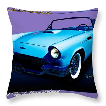 1957 Thunderbird Poster Throw Pillow