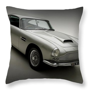 Throw Pillow featuring the photograph 1958 Aston Martin Db4 by Gianfranco Weiss