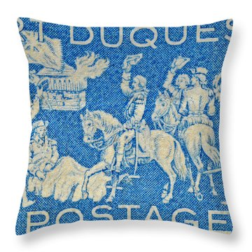 1958 Battle Of Fort Duquesne Stamp Throw Pillow
