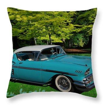 1958 Chev Impala Throw Pillow