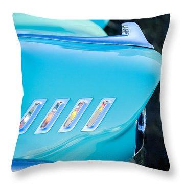 1958 Chevrolet Belair Hood Ornament Throw Pillow by Jill Reger