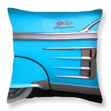 1958 Chevrolet Impala Throw Pillow by Sven Migot