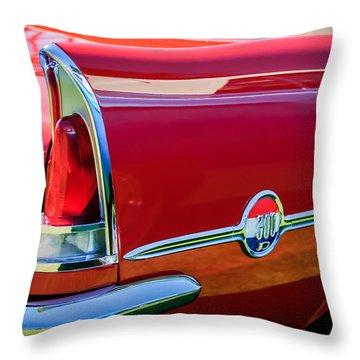 1958 Chrysler 300d Convertible Taillight Emblem -2972c Throw Pillow