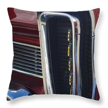 1958 Edsel Pacer Grille 2 Throw Pillow by Jill Reger