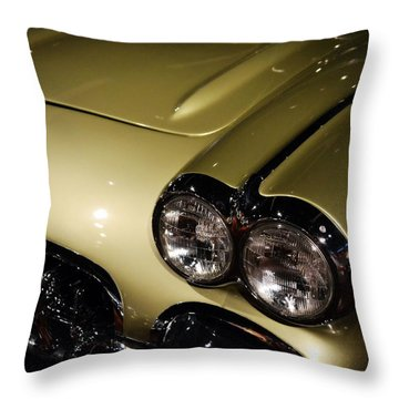 1958 Fancy Free Corvette J58s Throw Pillow