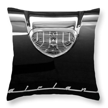 1958 Ford Fairlane 500 Victoria Hood Emblem Throw Pillow by Jill Reger