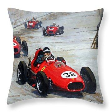 1958 Monaco Gp  Throw Pillow