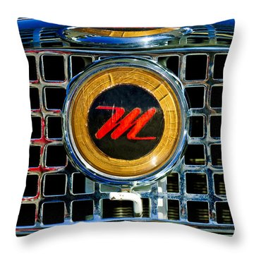 1958 Nash Metropolitan Hood Ornament 3 Throw Pillow by Jill Reger