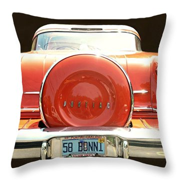 1958 Pontiac Bonneville Throw Pillow