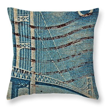 1958 The Mighty Mac Stamp Throw Pillow