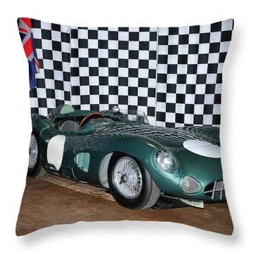 1959 Aston Martin Dbr1 Throw Pillow