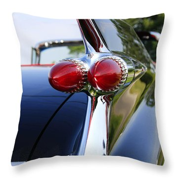 1959 Cadillac Throw Pillow by Dennis Hedberg