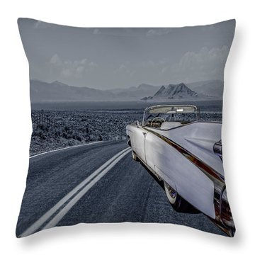 1959 Cadillac Eldorado Cool Night Throw Pillow