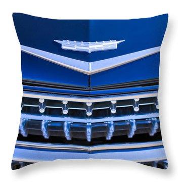 1959 Cadillac Eldorado Hood Ornament Throw Pillow by Jill Reger