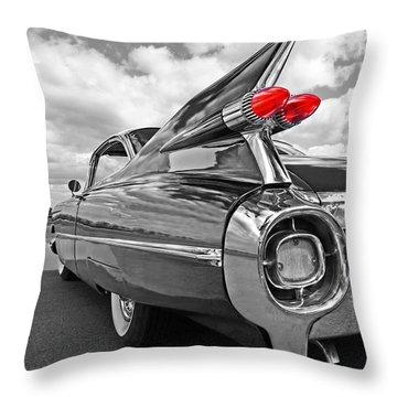 1959 Cadillac Tail Fins Throw Pillow