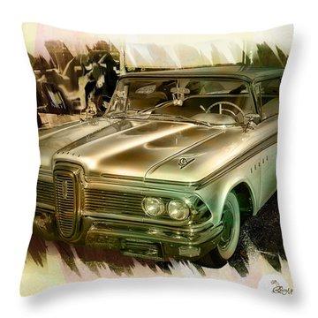 1959 Edsel Throw Pillow