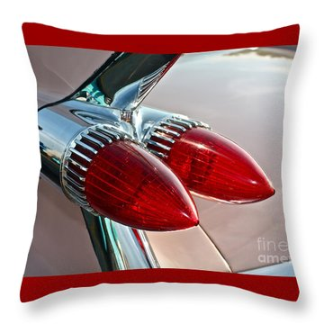 1959 Eldorado Taillights Throw Pillow