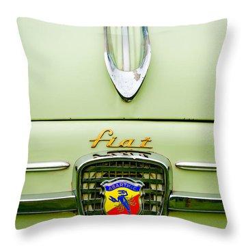 1959 Fiat 600 Derivazione 750 Abarth Hood Ornament Throw Pillow by Jill Reger