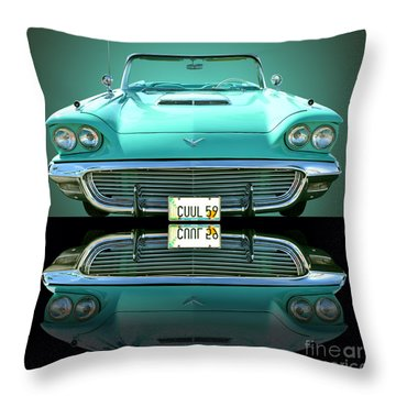 1959 Ford T Bird Throw Pillow