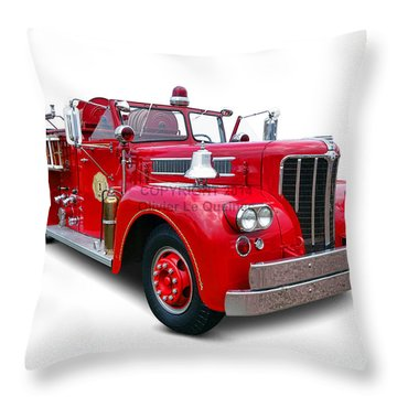 1959 Maxim Fire Truck Throw Pillow