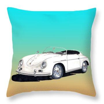 1959 Porsche Speedster Throw Pillow