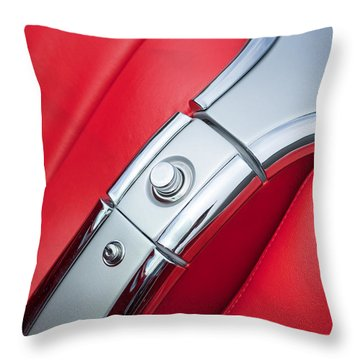 1960 Chevrolet Corvette Compartment Throw Pillow by Jill Reger