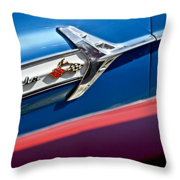 1960 Chevrolet Impala Emblem 7 Throw Pillow by Jill Reger