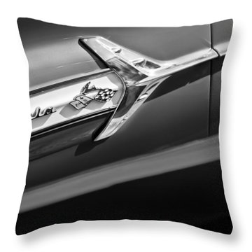 1960 Chevrolet Impala Side Emblem Throw Pillow by Jill Reger