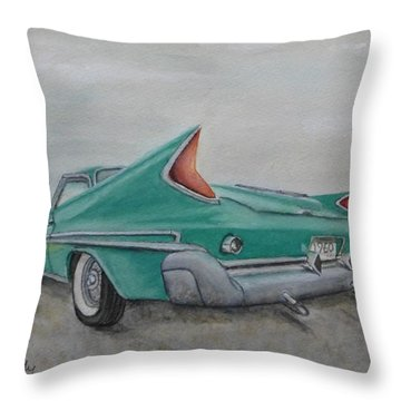 1960 Classic Saratoga Chrysler Throw Pillow by Kelly Mills
